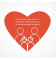 love of a family red heart with parents and kids vector image