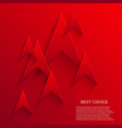 modern red arrows background Eps 10 vector image
