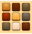 Set of wood ios icons vector image