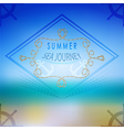 summer ocean blurred landscape interface vector image