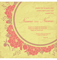 Vintage wedding invitation with flowers vector image