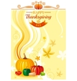 Autumn food background with pumpkin icon vector image