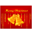 christmas yellow bell red background 10 SS v vector image