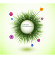 round frame with fresh spring grass vector image