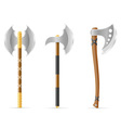 battle axe 04 vector image vector image