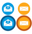 message icon flat vector image