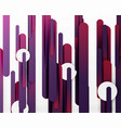 cut 3d paper color straight lines abstract vector image
