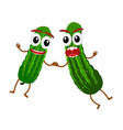 Cucumber cartoon vector image