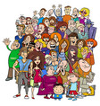 cartoon people group in the crowd vector image