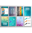 Set of Flyer Design Web Templates Brochure Designs vector image vector image