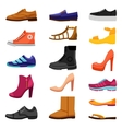 Footwear Colored Icons Set vector image
