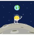 coin business man waving hand on moon vector image