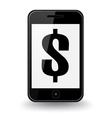 Dollar Smart Phone vector image