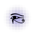 Eye of Horus icon in comics style vector image