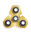 hand spinner toy fidget spinner kinesthetic toy vector image