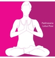 lotus position - padmasana vector image