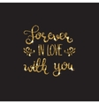 Love text Romantic lettering with glitter Golden vector image