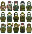 military nesting dolls vector image
