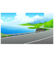 lakeside road vector image