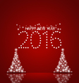 2016 Happy New Year background vector image