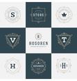 Retro Vintage Insignias or Logotypes set vector image vector image