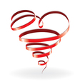 ribbon heart vector image vector image