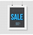 Big Sale Poster Wall Frame Mockup vector image