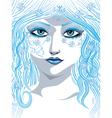 Blue winter girl vector image