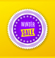holiday banner of winter sale purple white vector image
