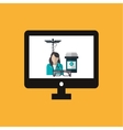 Medical care design Health care icon Colorfull vector image