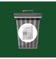trash can and paper recycling icon vector image