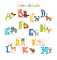 Zoo Cute cartoon animals alphabet from A to M in vector image