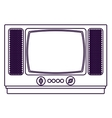 Retro tv technology design vector image