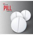 Set of Photorealistic Medicine Pill vector image