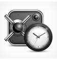 Safe icon clock vector image vector image