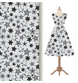 womens dress fabric pattern with stars vector image