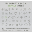 Doodle Icons vector image vector image