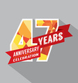 47th Years Anniversary Celebration Design vector image