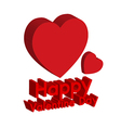 3d happy valentine day vector image