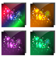 sparkling colorful backgrounds vector image vector image