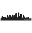 louisville kentucky skyline detailed silhouette vector image vector image