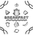 hand drawn breakfast sketch vector image