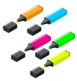 Highlither markers isometric icon set vector image