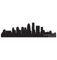 Louisville kentucky skyline detailed silhouette vector image