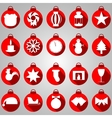 New year icons on pink background vector image