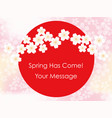 rising sun and cherry blossoms vector image