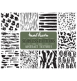 Set of ten hand drawn ink seamless patterns vector image