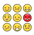 simple yellow emoticons vector image