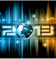 Colorful 2013 New Year Celebration Background vector image