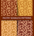 patterns of pastry vector image